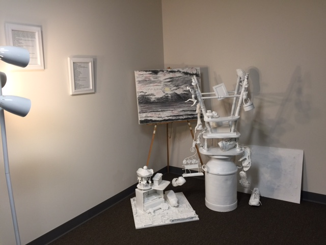 Rust and Recovery Art on display at HOPE for NH recovery at community center in manchester, NH 293 wilson street