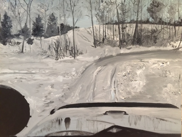 Winter Jeep Landscape